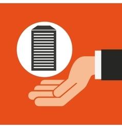 Hands businessman data base vector