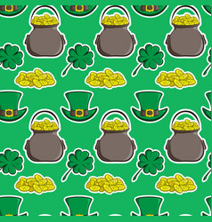 holiday seamless pattern st patrick s day vector image