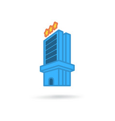 Hotel modern icon vector