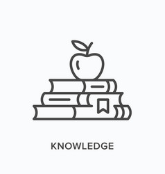 Knowledge line icon outline vector