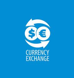 Logo currency exchange vector