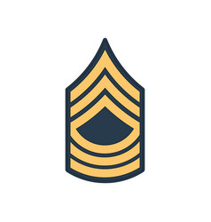 Master sergeant msg soldier military rank insignia vector