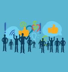 Millennial social media blogger one person social vector