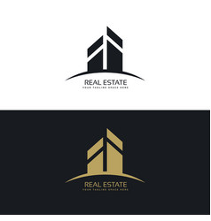 Modern clean real estate logo design concept vector