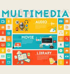 Multimedia concept collection vector