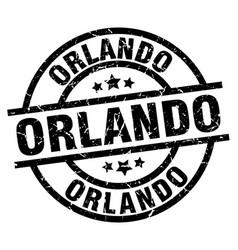 Orlando black round grunge stamp vector