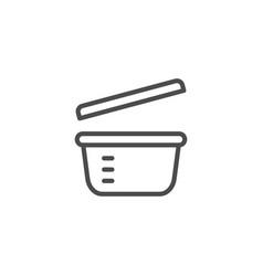 Plastic dinnerware line outline icon vector