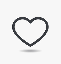 Red heart icon in flat style vector