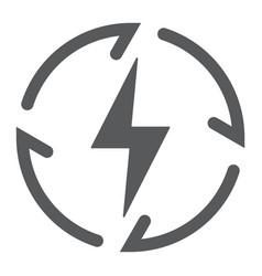 renewable energy glyph icon ecology and energy vector image