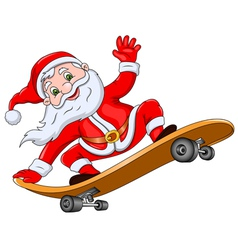 Santa Claus on Skateboard vector