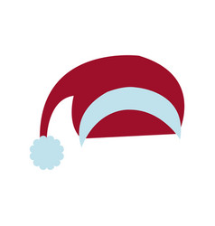 santa red hat celebration decoration icon vector image