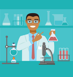 Scientific research concept vector
