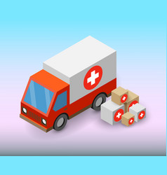 Service modern fast delivery boxes vector