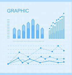 set graphs and diagrams for infographics vector image