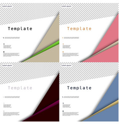 Set of business presentation template from vector