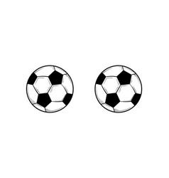 soccer ball football hand drawn vector image