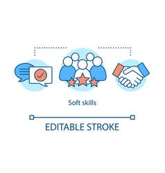 Soft skills concept icon vector