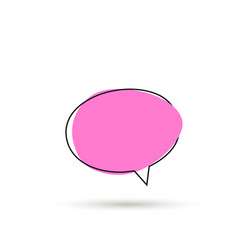 speech bubble sign icon vector image