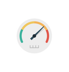 speedometer icon sign symbol vector image
