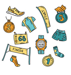 sport accessories for run vector image