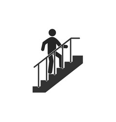 Stairs career ladder icon vector