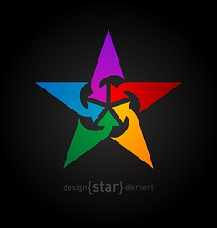 star with arrows Abstract design element vector image