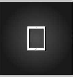 tablet icon flat vector image