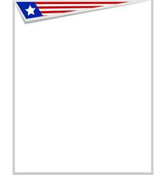 Usa flag symbols corner frame vector