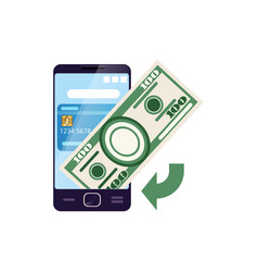 using smartphone for payments internet banking vector image