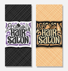 Vertical banners for hair salon vector