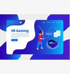 virtual reality and cloud gaming vector image