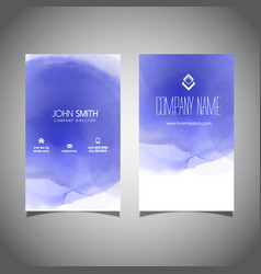Watercolour texture business card vector