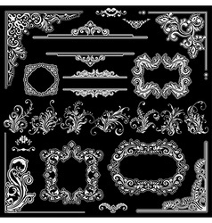 Wedding frames decoration design vector image