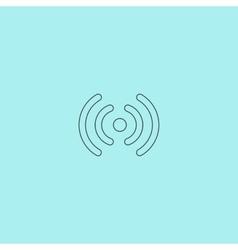 Wireless Network icon Wifi zone Signal vector image