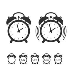 alarm clock icon set vector image