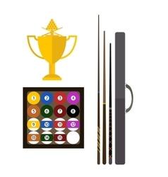 Billiards game equipment vector image vector image