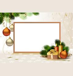 Christmas greeting- card vector image