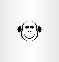 funny monkey icon vector image