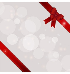 Gift background with ribbons and bow vector image vector image
