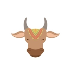 Head Of Indian Holy Cow vector image vector image