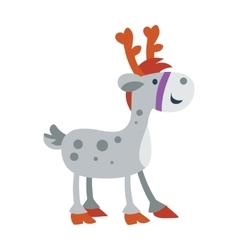 Little Toy Horse Isolated on White Cute Deer vector image