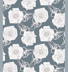 seamless pattern with abstract cartoon rose vector image