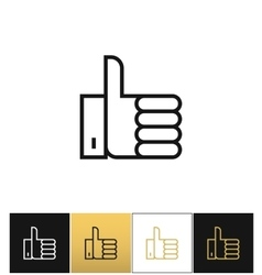 Thumb Up symbol or best choice icon vector image vector image