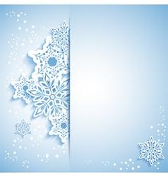 Christmas Snowflake Greeting Card vector image