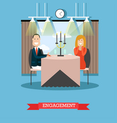engagement concept in flat vector image