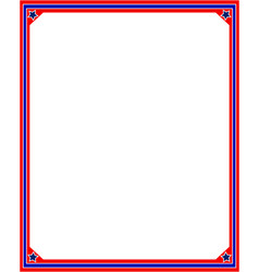 frame in red and blue colors of the us flag vector image vector image