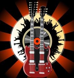 guitar legends vector image vector image