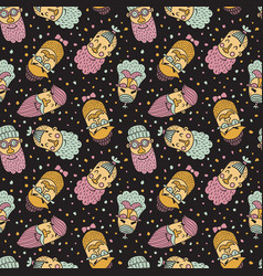 hipsters pattern vector image vector image