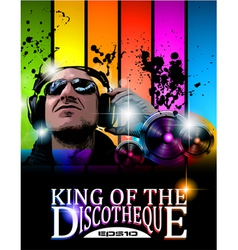 king of the discotheque vector image vector image