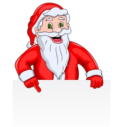 Santa Claus with a Blank Sign vector image vector image